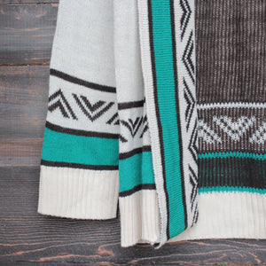 mod lightweight tribal cardigan aztec in jade - shophearts - 4