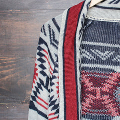 mod lightweight tribal cardigan aztec in rust - shophearts - 4