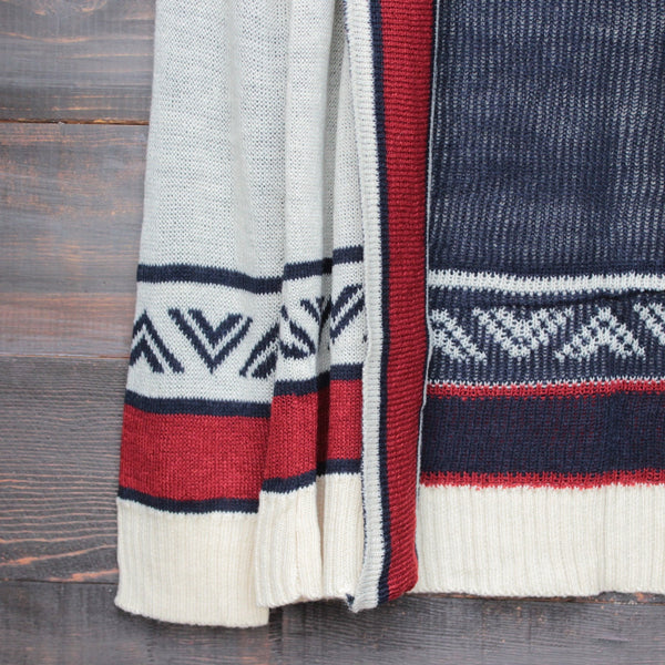 mod lightweight tribal cardigan aztec in rust - shophearts - 5