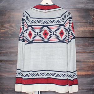 mod lightweight tribal cardigan aztec in rust - shophearts - 6