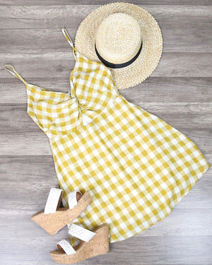 Cotton Candy LA - Summer Land Dress in Mustard