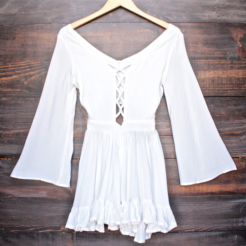 Lioness by the sea gypsy romper in white - shophearts - 1