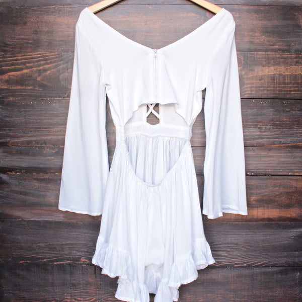 Lioness by the sea gypsy romper in white - shophearts - 2