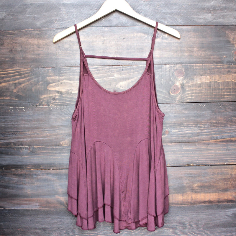 uneven hem acid wash open back women's tank (more colors) - shophearts - 1