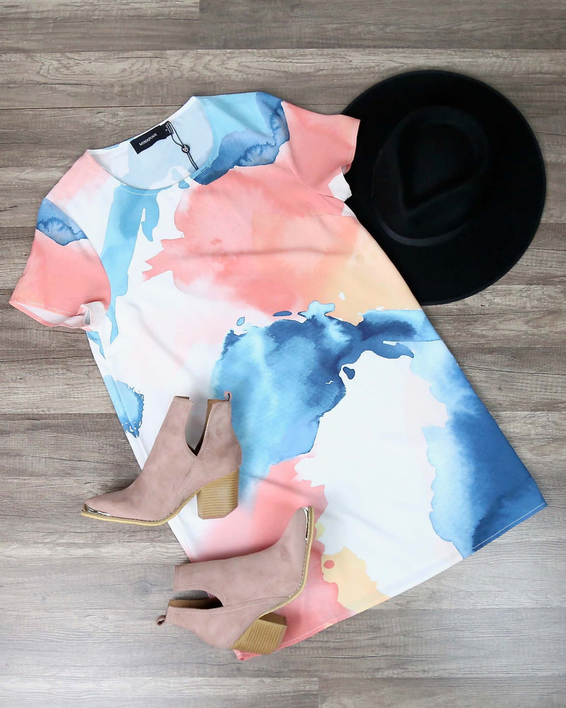 Final Sale - MINKPINK - Bene Tee Dress in Multi