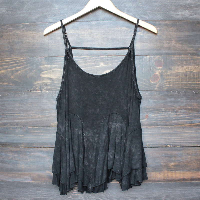 uneven hem acid wash open back women's tank (more colors) - shophearts - 3