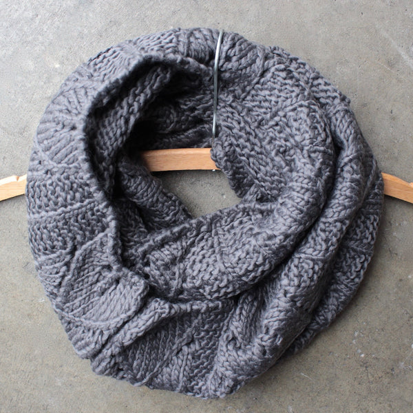 knit leaf pattern infinity scarf (more colors) - shophearts - 5