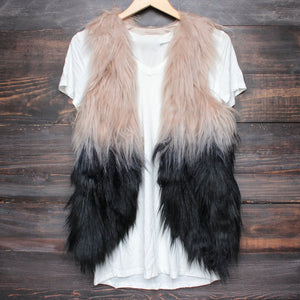 nightlife ombre faux fur vest - shophearts - 1