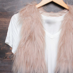 nightlife ombre faux fur vest - shophearts - 3