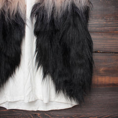 nightlife ombre faux fur vest - shophearts - 4