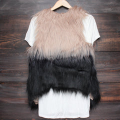nightlife ombre faux fur vest - shophearts - 2