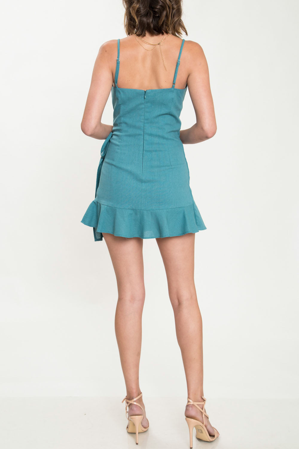 push and pull - wrap dress - emerald