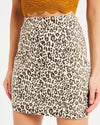 Leopard Print Bodycon Denim Skirt