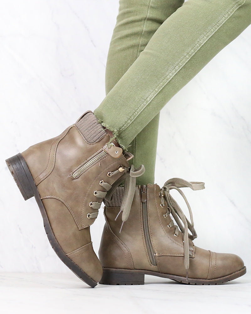 Low Cut Cutie Sweater Boots in New Khaki