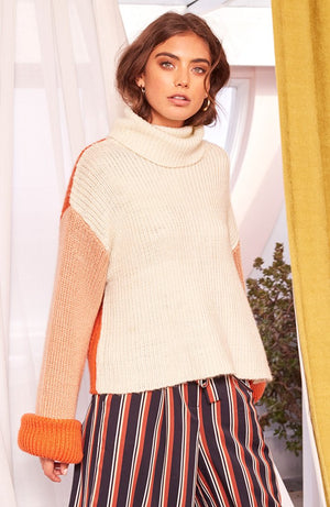 MINKPINK - Block Colour Knit Sweater in Multi