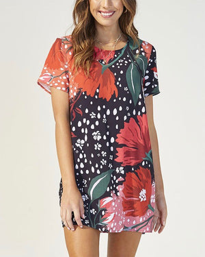 MINKPINK - I'll Be Around Floral T-Shirt Dress