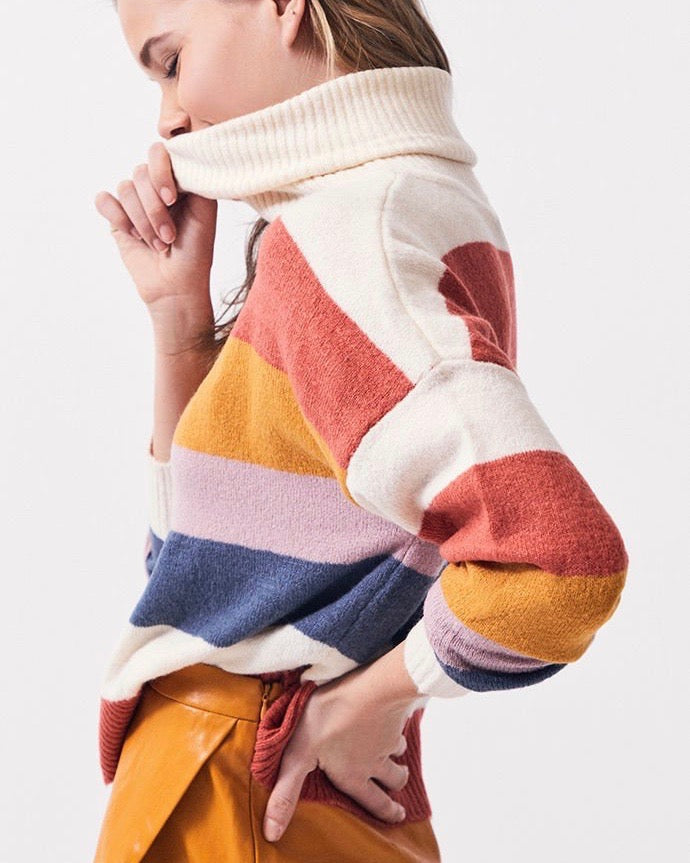 MINKPINK Be Bold Stripe Knit Sweater in Multi