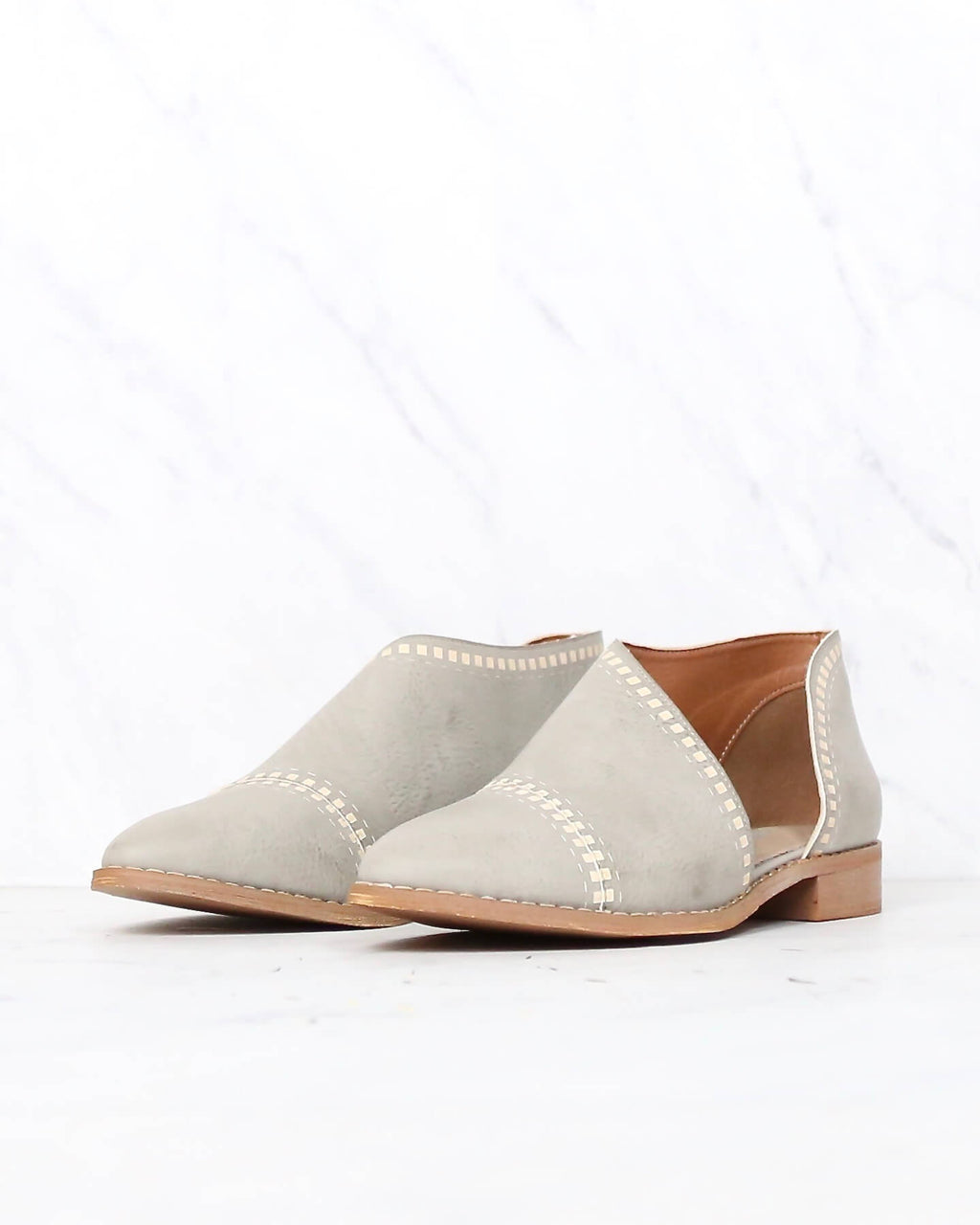 miracle miles - emma patterned flat - GREY
