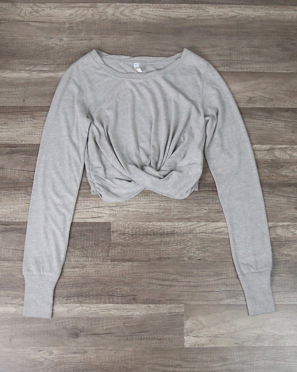 Free People Movement - Undertow Long Sleeve T-shirt in Heather Grey
