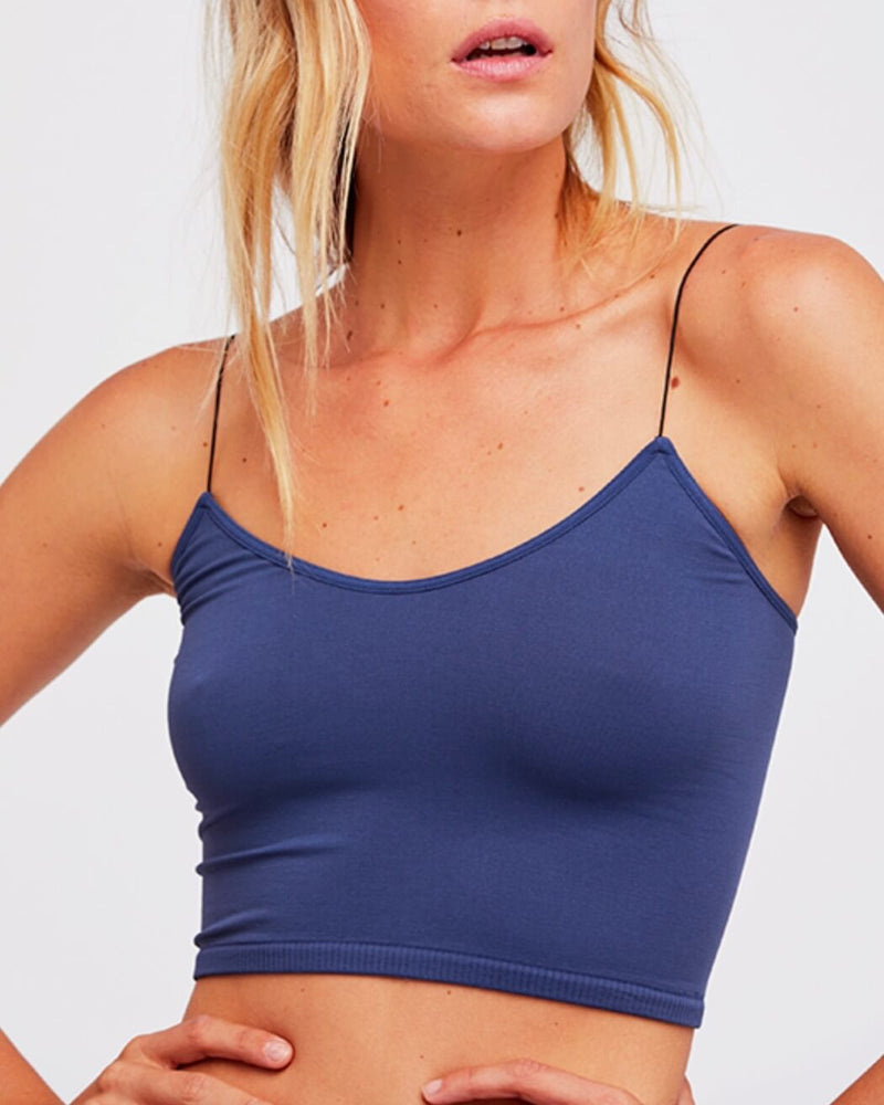 free people - skinny strap brami crop top - NAVY