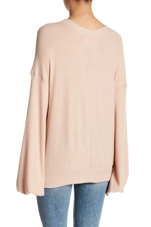 Free People - TGIF Pullover Sweater in Almond