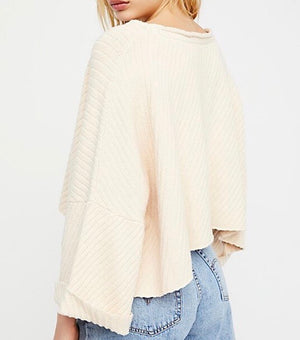 Free People - I Can't Wait Sweater in Cream