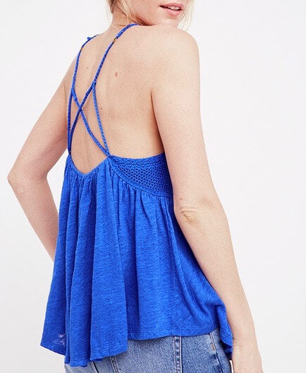 Free People - Road Trip Crochet Tank in Blue