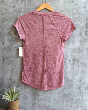free people - clementine tee - berry