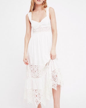 Free People - Caught Your Eye Gauzy Maxi Dress in White