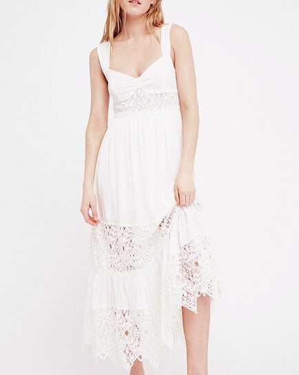 free people - caught your eye gauzy maxi dress - white