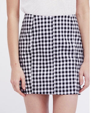 free people - modern femme novelty mini skirt - gingham multi