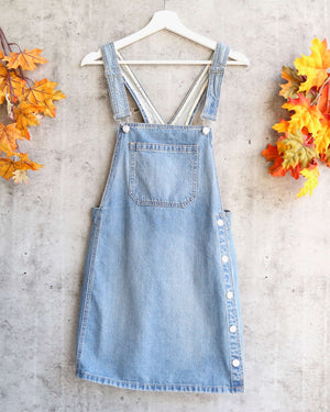 free people - louise denim skirtall - bright blue sky