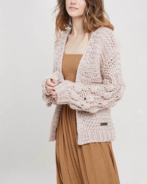Pop Pop! Popcorn Sleeve Knit Cardigan - more colors