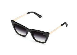 Quay Australia - Don't @ Me Cat Eye Sunglasses - Black Fade