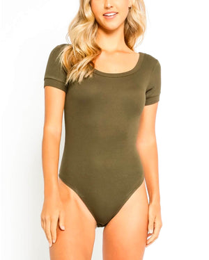 Raelynn Ribbed Scoop Neck Bodysuit in More Colors