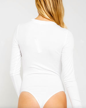 Rosalie Ribbed Long Sleeve Bodysuit in More Colors