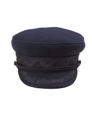 lack of color - riviera newsboy cap - navy