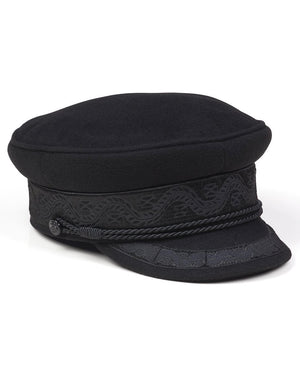 lack of color - riviera newsboy cap - black