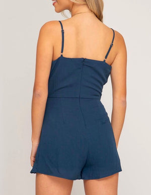 Love Story Sleeveless Wrap Romper in More Colors