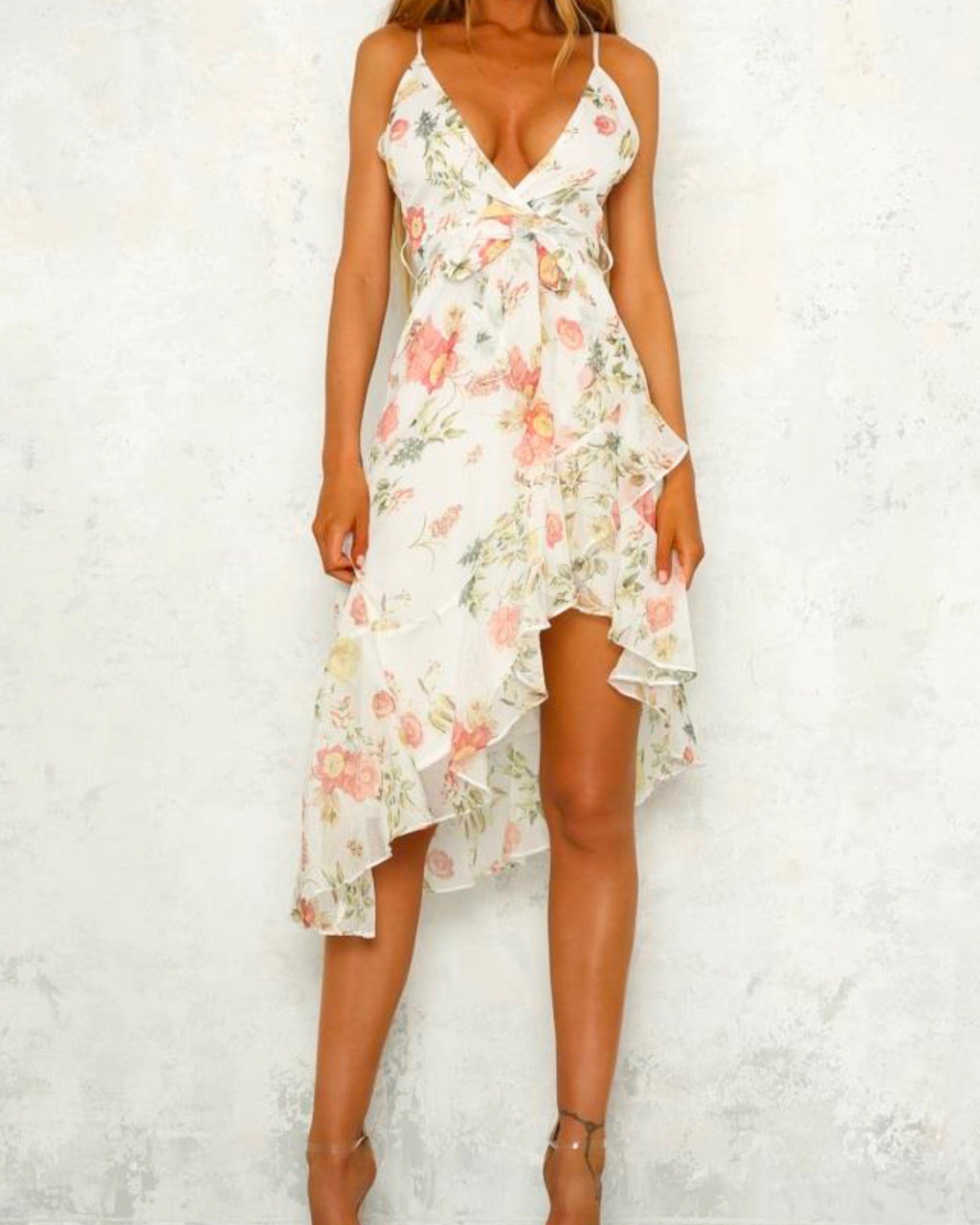 walking through my dreams floral dress - white