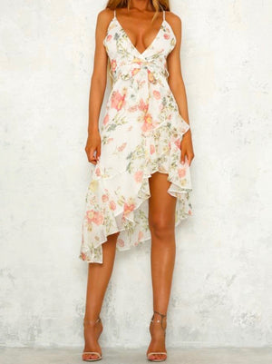Walking Through My Dreams Floral Dress in White