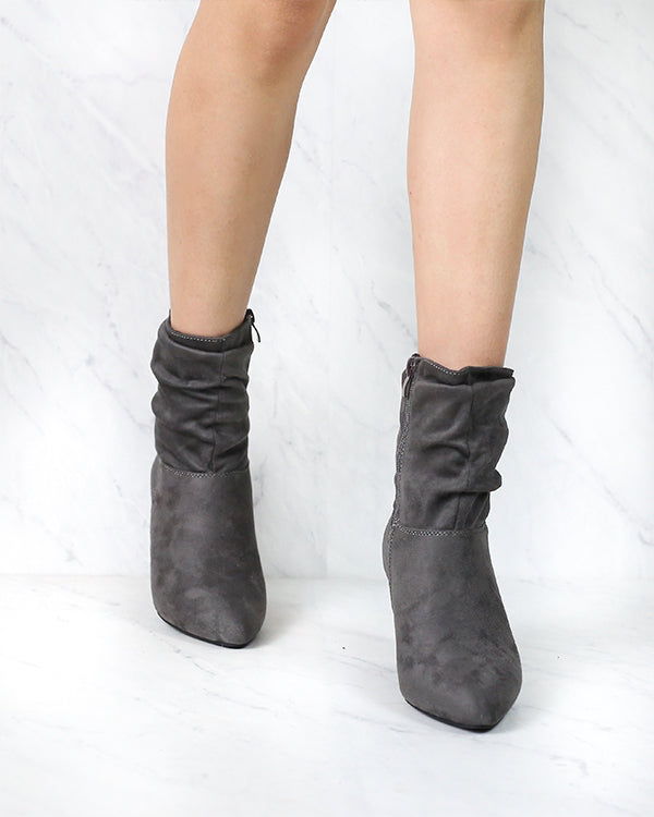 Sassy Scrunched Ankle Boots - More Colors