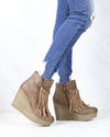 Sbicca Vintage Collection - Zepp Wedge Fringe Ankle Bootie in More Colors