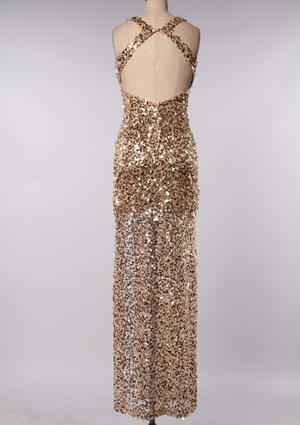 perfect party ball gown gold sequin maxi dress - shophearts - 3