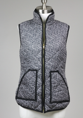 herringbone quilted puffer vest - shophearts - 5