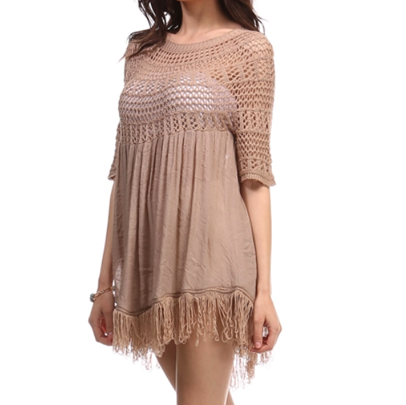 desert wanderer knit tunic in ivory - shophearts - 5