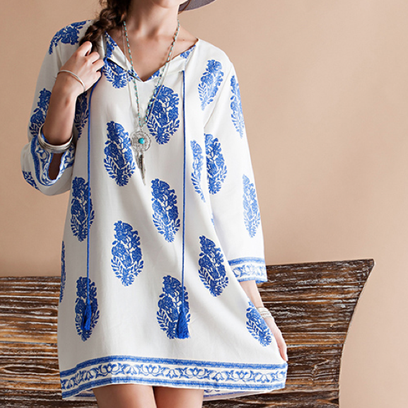 midsummer night's boho shift dress - shophearts - 1