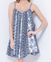 final sale - sunday brunch flowy day dress | navy print - shophearts - 6