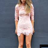 Lioness killer lace dress in pink blush - shophearts - 1