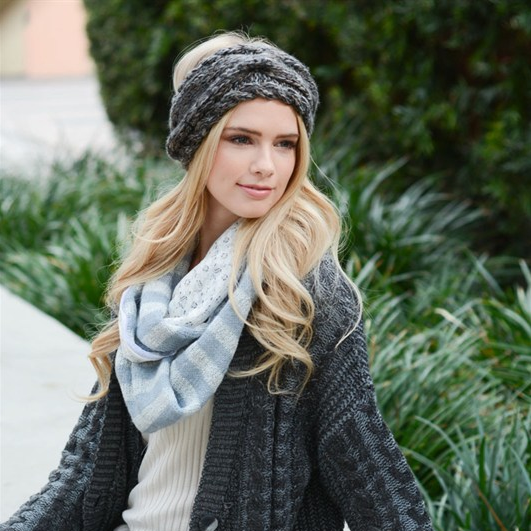 cozy knit head wrap - shophearts - 1